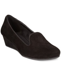 Easy Spirit Davita Wedges Women's Shoes Black Suede