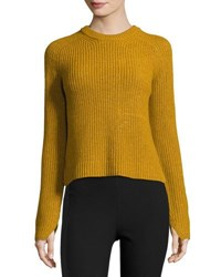 Rag And Bone Genna Ribbed Pullover Sweater Gold