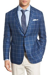Men's Todd Snyder White Label Trim Fit Windowpane Linen Sport Coat