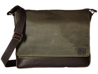 Frye Carter Messenger Olive Canvas Messenger Bags