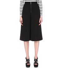 Whistles Bella Wide High Rise Crepe Culottes Black