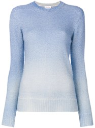Agnona Long Sleeved Knit Top Alpaca Blue