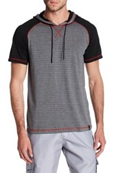 Burnside Hooded Short Sleeve Pullover Gray