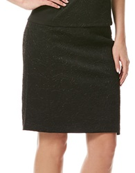 Laundry By Shelli Segal Embossed Pencil Skirt Black