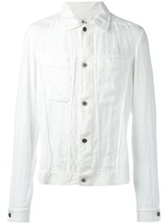 Lost And Found Rooms Denim Jacket White