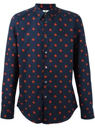 Paul Smith Ps By Heart Printed Shirt Blue