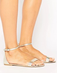Call It Spring Metallic Gold Flat Sandals Gold