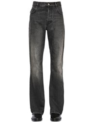Balenciaga 24.5Cm Boot Cut Washed Denim Jeans Black