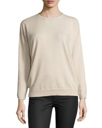 Brunello Cucinelli Monili Trim Cashmere Sweater Light Rose