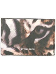 Paul Smith Ps By 'Leopard' Print Wallet Brown