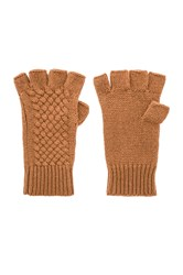 360Cashmere Phoebe Gloves Brown