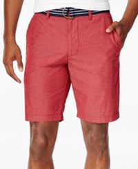 American Rag Men's Micro Stripe Shorts Only At Macy's Worn Red