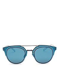 Christian Dior Dior Homme Composit 1.0 Round Sunglasses Blue Lucid