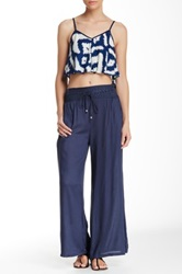 Angie Embroidered Wide Leg Pant Blue