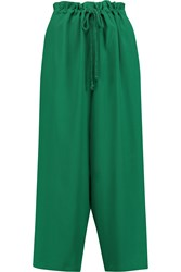 M Missoni Crepe Wide Leg Pants Green