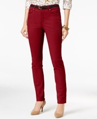 Charter Club Petite Lexington Straight Leg Jeans Only At Macy's New Red Amore