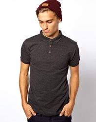 Brave Soul Polo Shirt Grey