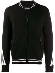 Neil Barrett Relaxed Fit Zip Up Cardigan Black