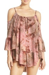 Ale By Alessandra Women's 'Mother Earth' Tie Dye Cover Up Dress