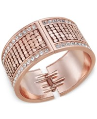 Thalia Sodi Gold Tone Crystal Hinged Bangle Bracelet Only At Macy's Rose Gold