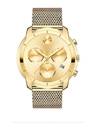 Movado Ionic Goldplated Steel Chronograph Bracelet Watch
