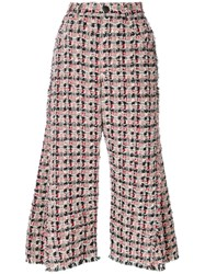 Sonia Rykiel Tweed Flared Trousers Women Silk Cotton Polyester Other Fibers 40