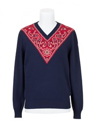 Moncler Bandana Sweater Blue Red