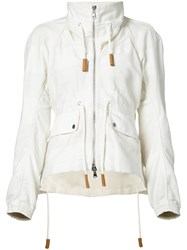 Derek Lam Zipped Jacket Women Cotton Linen Flax 42 White