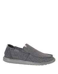 Hey Dude Canvas Round Toe Loafers