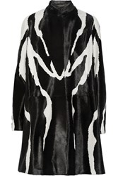 Tom Ford Zebra Print Calf Hair Coat Black Zebra Print