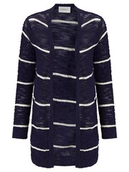 Sita Murt Stripe Textured Cardigan Navy