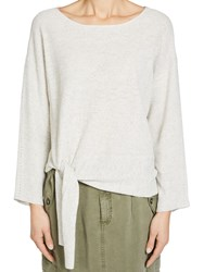Oui Tie Front Jumper Off White