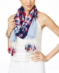 Inc International Concepts Tie Dyed Wrap Scarf Only At Macy's Chambray