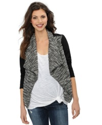 Blank Nyc Maternity Draped Faux Leather Trim Jacket