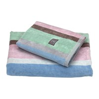 Gant Boston Stripe Towel Nantucket Pink Multi