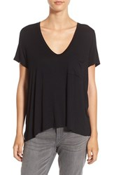 Lush Women's Deep V Neck Tee