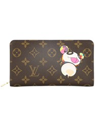 Louis Vuitton Vintage Porte Monnaie Monogram Wallet Brown