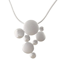 Nina B Sterling Silver Contrast Finish Bubbles Necklace