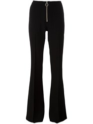 Marques Almeida Marques'almeida Zip Up Flared Trousers Black