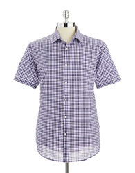 John Varvatos U.S.A. Checkered Button Down Shirt Purple