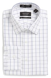 Men's Nordstrom Men's Shop Smartcare Classic Fit Check Dress Shirt Grey Sconce