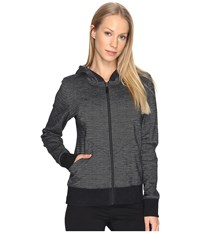 Lole India Hooded Cardigan Black Women's Sweater