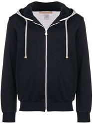 Eleventy Classic Hoodie Blue