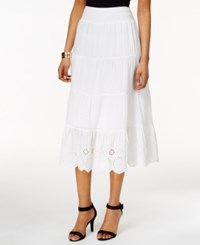 Styleandco. Style And Co. Petite Eyelet A Line Skirt Only At Macy's Bright White