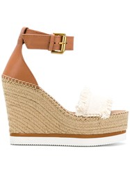 See By Chloe Glyn Wedge Espadrilles Brown