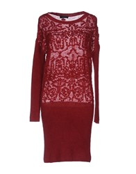 Twin Set Jeans Short Dresses Maroon