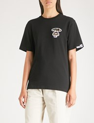 Aape By A Bathing Ape Branded Cotton Jersey T Shirt Black