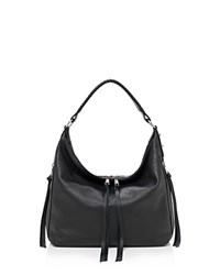Botkier Samantha Leather Hobo Black Silver