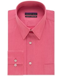 Geoffrey Beene Men's Big And Tall Classic Fit Wrinkle Free Bedford Cord Solid Dress Shirt Pink