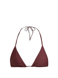 Matteau The String Triangle Bikini Top Burgundy